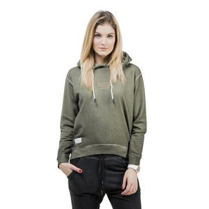 Backyard Cartel bluza sweatshirt Back 2 Back Hoody Womens washed khaki QUICKSTRIKE
