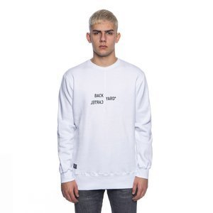 Backyard Cartel bluza sweatshirt Broken crewneck white