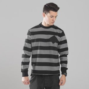 Backyard Cartel bluza sweatshirt Dots Stripes crewneck black