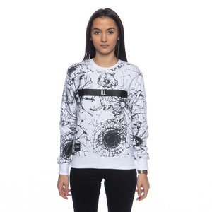 Backyard Cartel bluza sweatshirt Glass crewneck white ILLUSTRATED