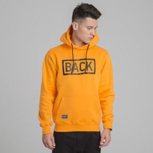 Backyard Cartel bluza sweatshirt Inset hoody orange