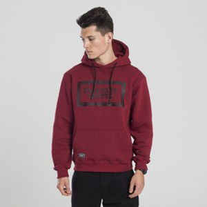 Backyard Cartel bluza sweatshirt Label Logo hoody claret