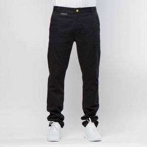 Backyard Cartel chino Label tapered fit black