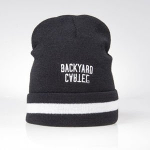 Backyard Cartel czapka zimowa Half Stripes beanie hat black