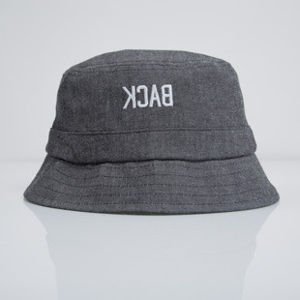 Backyard Cartel kapelusz bucket hat Back dark grey