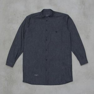 Backyard Cartel koszula Chambray Long light navy