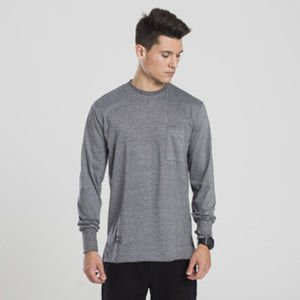 Backyard Cartel koszulka longsleeve Cut heather grey