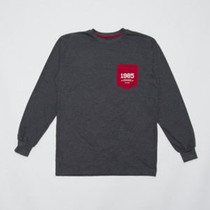 "Backyard Cartel koszulka longsleeve pocket Rasmentalism ""1985"" dark heather grey"