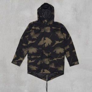 Backyard Cartel kurtka LEAVES Long Parka black