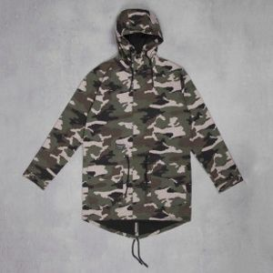 Backyard Cartel kurtka NOT ONE Long Parka woodland camo