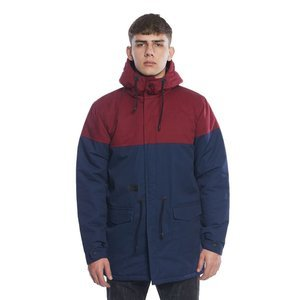 Backyard Cartel kurtka jacket Parka Long claret / navy