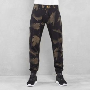 Backyard Cartel spodnie chino Leaves jogger fit black
