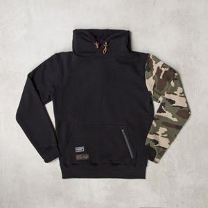 Backyard Cartel x Zulu Kuki bluza sweatshirt ZULU black / woodland camo LIMITED EDITION