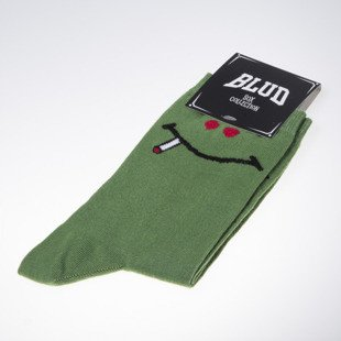Blud skarpety socks Green Smile quarter green