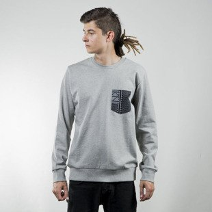 Bluza Carhart WIP Eaton Pocket Sweat grey heather / assyut black / white