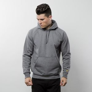 Bluza Carhartt WIP Hooded Chase Sweat dark grey heather / gold