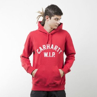 Bluza Carhartt WIP Hooded USS Script Sweat rosehip / white