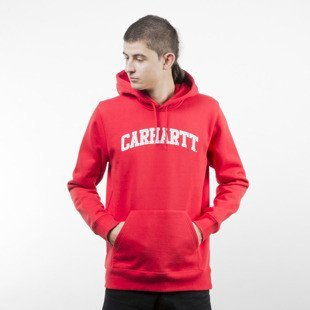 Bluza Carhartt WIP Hooded Yale Sweat chili / white
