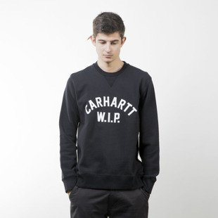 Bluza Carhartt WIP USS Script Sweat Crewneck black / white washed