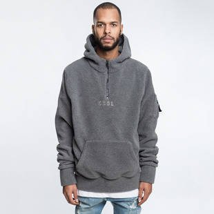 Bluza Cayler & Sons BLACK LABEL CSBL First Division Half Zip Hoody grey sherpa / black CSBL-HD16-AP-09