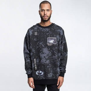 Bluza Cayler & Sons BLACK LABEL CSBL Serie Oversized Crewneck black camo / grey CSBL-HD16-AP-11