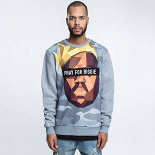 Bluza Cayler & Sons WL Bigasso Crewneck heather grey / multicolor WL-CAY-HD16-AP-06