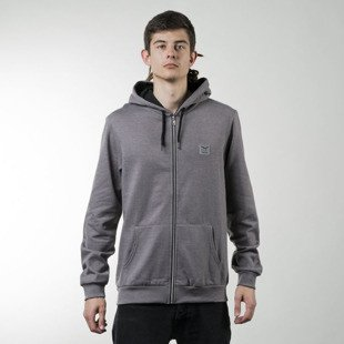 Bluza Iriedaily Color Flag Zip Hood charcoal melange