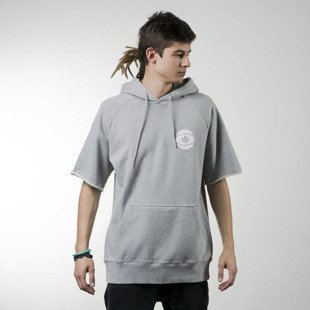 Bluza K1X All City Short-Sleeve Hoody heather grey / white (1161-2104/8110)