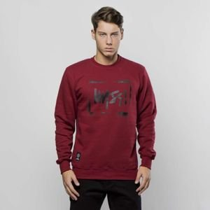Bluza Mass Denim Sweatshirt Crewneck Street Sign claret