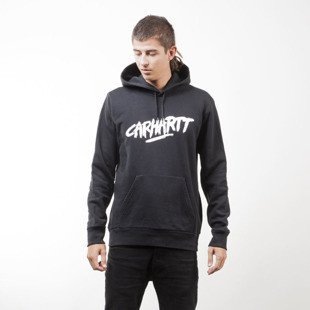 Carhartt WIP bluza Hooded Painted Script Sweat black / white