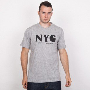 Carhartt WIP koszulka NYC grey heather / black