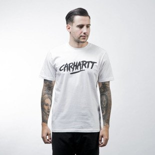 Carhartt WIP koszulka t-shirt Painted Script white / black