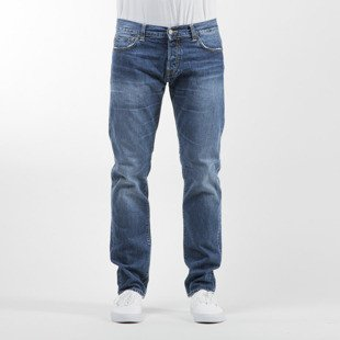 Carhartt WIP spodnie Hanford Cotton blue denim gravel washed