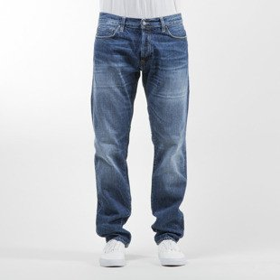 Carhartt WIP spodnie Klondike Pant II Edgewood Cotton blue denim gravel washed