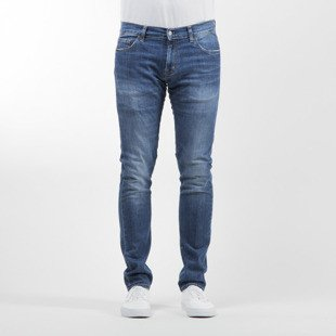 Carhartt WIP spodnie Rebel Pant Colfax Cotton / Elastane blue stretch denim gravel washed