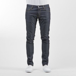 Carhartt WIP spodnie Rebel Pant Colfax Cotton / Elastane blue stretch denim rigid
