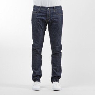 Carhartt WIP spodnie Rebel Pant Colfax Cotton / Elastane blue stretch denim rinsed