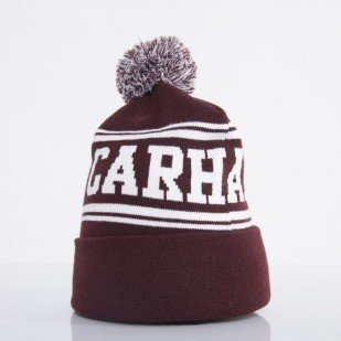 Carhartt czapka Fan bordeaux / white