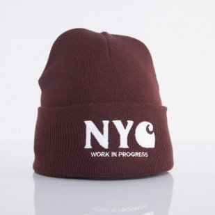 Carhartt czapka NYC bordeaux / white