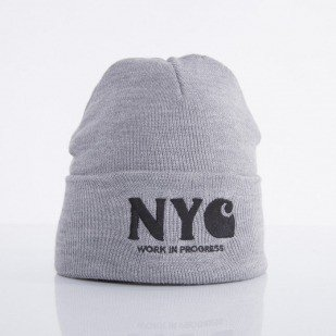 Carhartt czapka NYC grey heather / white