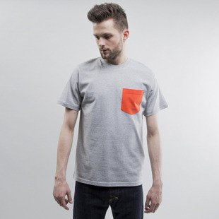 Carhartt koszulka Contrast Pocket grey heather / florida