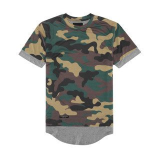 Cayler & Sons BLACK LABEL koszulka t-shirt Deuces Long Layer Tee woodlad / grey - heather BL-CAY-AW16-AP-39