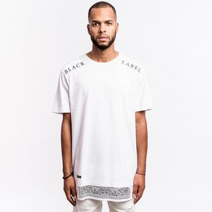 Cayler & Sons BLACK LABEL t-shirt koszulka Bumrush Long white / black BL-CAY-AW16-AP-24-02