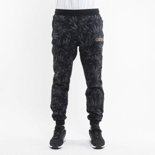 Cayler & Sons Black Label spodnie dresowe Legalize It black leaves GL-CAY-AW15-AP-25