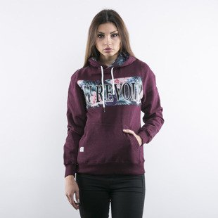 Cayler & Sons WMNS bluza Au Revoir Hoody maroon heather / mc