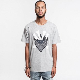 Cayler & Sons koszulka t-shirt Grime Tee grey - heather / white / navy WL-CAY-AW16-AP-19