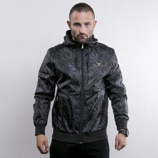 Cayler & Sons kurtka Legalize It Allower Windbreaker black leaves / gold (GL-CAY-AW15-AP-04)