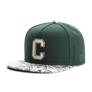 Cayler & Sons snapback czapka Cee Benjamins Cap forest green / mc GLD-CAY-AW16-07