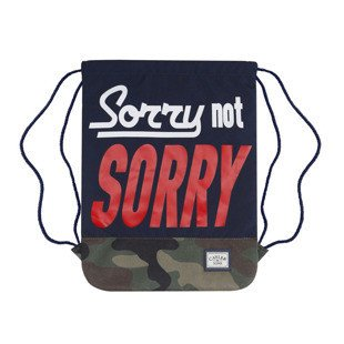 Cayler & Sons worek Not Sorry Gymbag navy / woodland / red / white WL-CAY-SU16-GB-05