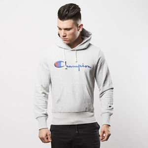 Champion bluza sweatshirt  Logo hoody grey heather 209758-8856